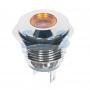 Индикатор металл Ø16 12В подсв/желтая LED, 36-4812