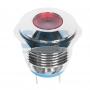 Индикатор металл Ø16 12В подсв/красная LED, 36-4810