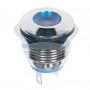 Индикатор металл Ø16 12В подсв/синяя LED, 36-4811