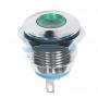 Индикатор металл Ø16 12В подсв/зеленая LED, 36-4813