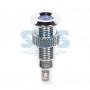 Индикатор металл Ø8 12В синий LED, 36-4716