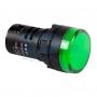 Индикатор Ø30 220V зеленый LED, 36-3383
