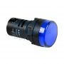 Индикатор Ø30 220V синий LED, 36-3381