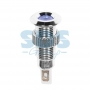 Индикатор металл Ø8 220В подсв/синяя LED, 36-4721