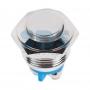 Кнопка антивандальная Ø16 Б/Фикс (2с винт) (ON)-OFF выпуклая, 36-3231