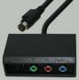 """Переход mini DIN 9 pin """"шт"""" - mini DIN 4 pin """"гн"""" (S-VHS) + 3 x RCA """"гн"""" COMPONENT/RGB пластик с кабелем 0.3м"""